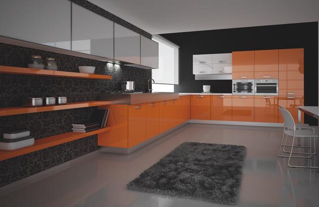 Turuncu Mutfak Dolapları